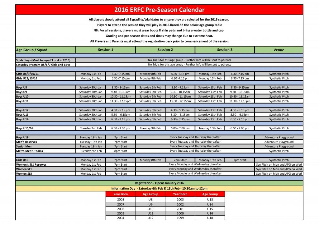 2016 Pre-Season Calender-1